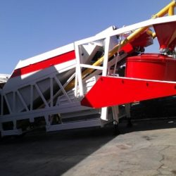 mobile concrete batching plant used