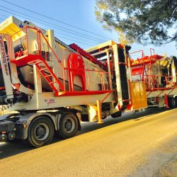 mobile crushing and screening plant for sale