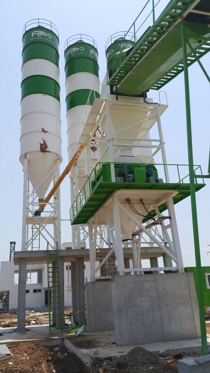 Powermix 180 Fixed Concrete Batching Plant Fabo Machinery