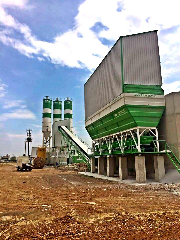 Powermix 130 M3 Concrete Batching Plant Yesilbas